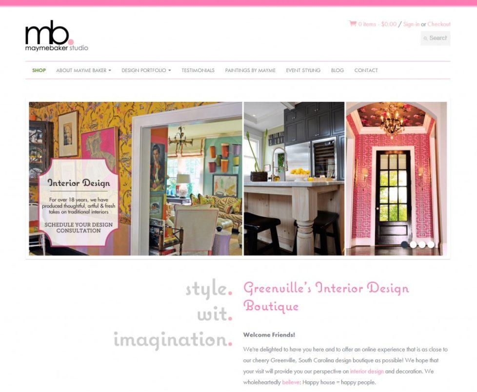 eCommerce Website Design | Mayme Baker Studio | Homepage