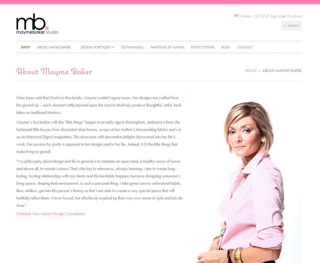 Responsive Web Design | Mayme Baker Studio | About Mayme Baker Subpage