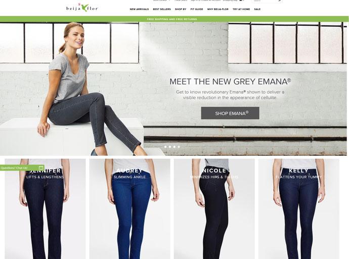 Beija Flor Jeans - Website Design and Development, eCommerce