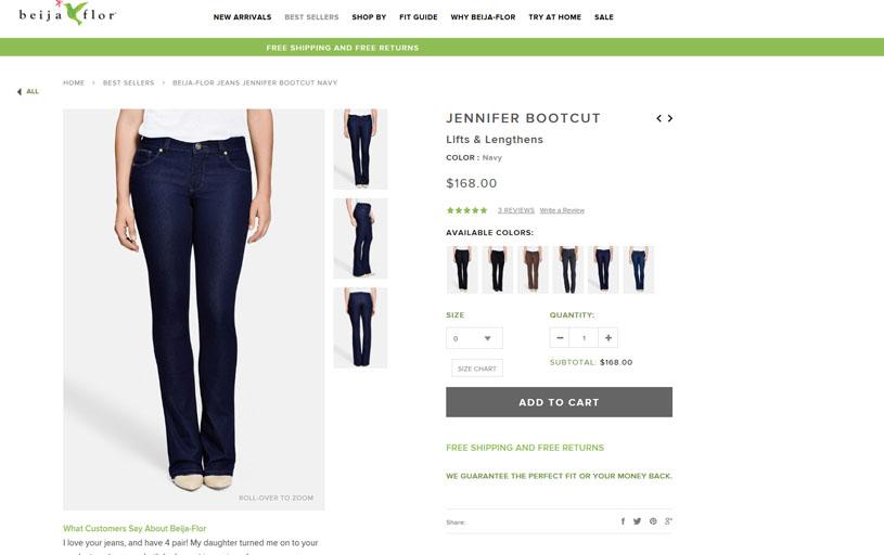 Beija Flor Jeans - Greenville, SC - Fashion Website Marketing