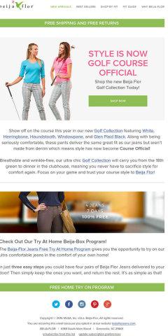Beija Flor New Golf Collection