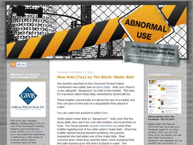 Gallivan, White & Boyd | Abnormal Use Blog